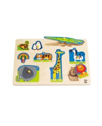 (HP1403) Hape, Wild Animals Peg Puzzle