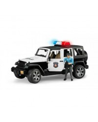 (BRU02526) Bruder, Jeep Wrangler Unlimited Rubicon Police Vehicle With Policeman And Accessories