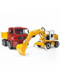 (BRU02751) Bruder, MAN TGA Construction Truck With Liebherr Excavator