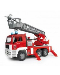 (BRU02771) Bruder, MAN Fire Engine With Selwing Ladder, Water Pump And Light And Sound Module Trucks incl. Battery