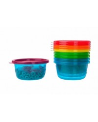 (Y1032) The First Years, Take & Toss Bowls With Lips 8oz 236ml 9M+ 6pcs - MultiColor