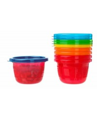 (Y1301) The First Years, Take & Toss Snack Cups With Lips 4.5oz 133ml 6M+ 6pcs - Multi Color