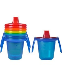 (Y4421) The First Years, Take & Toss Trainer Cup 4pcs 7oz 207ml 4M+ - Multi Color