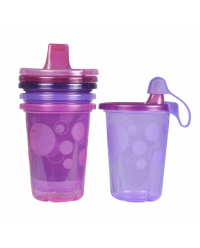 (Y4953) The First Years, Take & Toss 10oz Sipply Cups 10oz 296ml 9M+ 4pcs - Purple