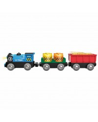 (HP3720) Hape, Battery Powered Rolling-Stock Set