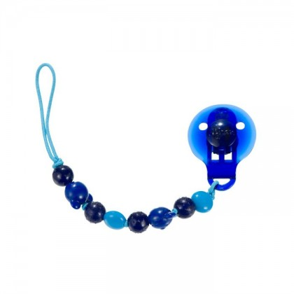(DF967) Difrax, Beads Soother Cord - Blue