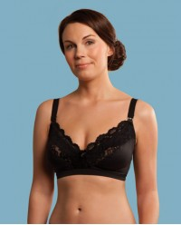 (C2034) Carriwell, Lace Drop Cup Nursing Bra Black V-Size