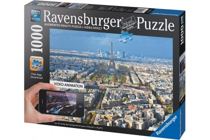 (R193028) Ravensburger, Over Rooftops Of Paris 1000pcs