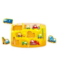 (HP1407) Hape, Construction Peg Puzzle