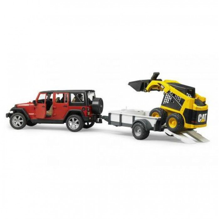 BRU02925) Bruder, JEEP Wrangler Unlimited Rubicon With One Axle