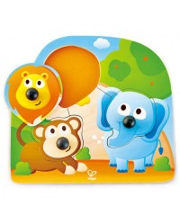 (HP1310) Hape, Big Nose Jungle Puzzle