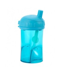 (DF1010-Blue) Difrax, Cup With Straw - Non Spill 250ml
