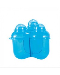 (DF668-Blue) Difrax, Baby Formula Storage Container - 3 Compartments