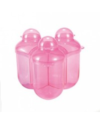 (DF668-Pink) Difrax, Baby Formula Storage Container - 3 Compartments