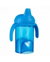 (DF702-Blue) Difrax, Non Spill Slippy Cup Hard Spout 250ml