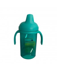 (DF704-Green) Difrax, Non Spill Slippy Cup Soft Spout 250ml