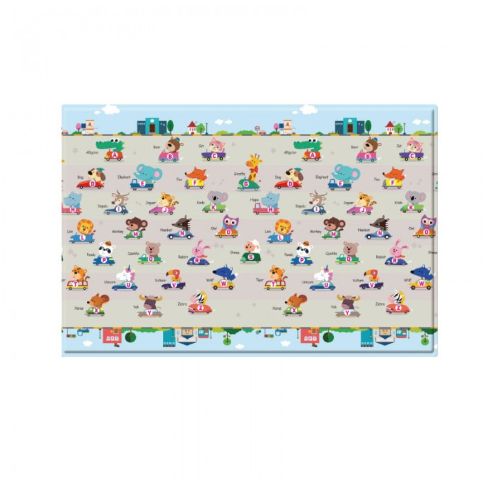 BCP@RC-2100x1400x13mm) Baby Care, PVC Playmat - Racing