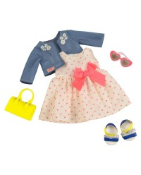 (BD30246Z) Our Generation, Deluxe Heartprint Dress Outfit