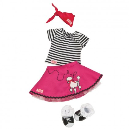 (BD60006Z) Our Generation, Poodle Skirt Set