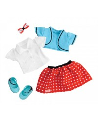 (BD60035Z) Our Generation, Polka Dot Skirt & Shrug Outfit