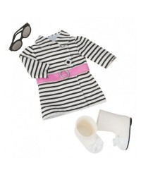 (BD60012Z) Our Generation, Striped Coat Outfit