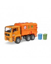 (BRU02760) Bruder, MAN Garbage Truck - Orange