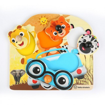 (HP11654-800806) Hape, Friendly Safari Faces Wooden Puzzle