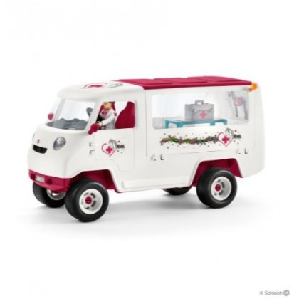 (SC42370) Schleich, Mobile Vet With Hanoverian Foal