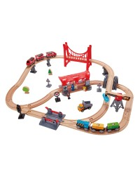 (HP3730) Hape, Busy City Rail Set