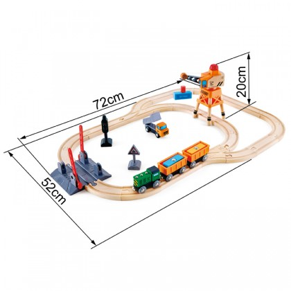 (HP3732) Hape, Crossing & Crane Set