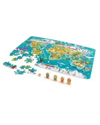 (HP1626) Hape, 2 in 1 World Map Puzzle