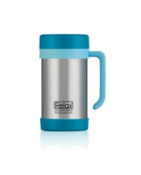 (D1144-17) Relax, 18.8 Stainless Steel Thermal Mug 0.5L - Blue