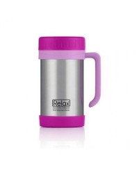 (D1144-18) Relax, 18.8 Stainless Steel Thermal Mug 0.5L - Pink