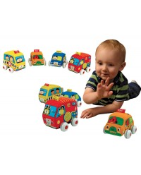 (KA10459) K's Kids, Pull Back Auto - Pack Of Four