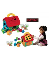 (KA10460) K's Kids, Deluxe Patrick Shape Sorting House