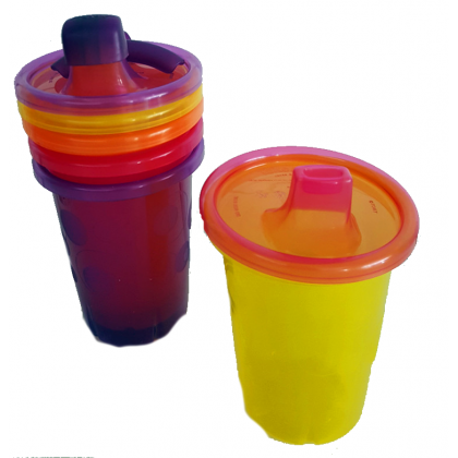 (Y1176-Y6469) The First Years, Take & Toss Spill Proof Antifuites Sippy Cups 10oz 296ml 9M+ 4pcs - Pink