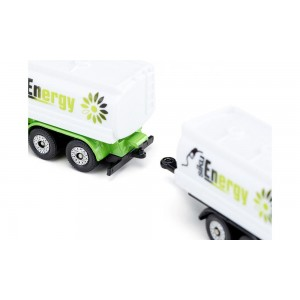 (S1690) Siku, Truck With Tank Superstructure & Trailer Tipper With Crane