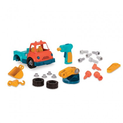 (VE1011Z) Wonder Wheels, Take-Apart Crane Truck