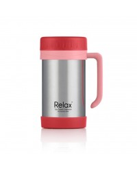 (D1144-01) Relax,  500ml 18.8 Stainless Steel Thermal Mug  - Red