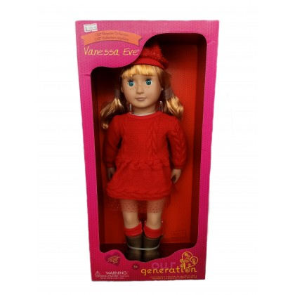 (BD31139Z) Our Generation, Doll W/Red Dress Vanessa Eve