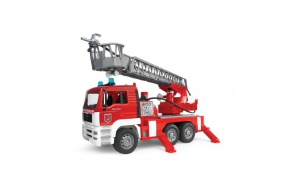 (BRU01981) Bruder, MAN TGA Fire Engine With Selwing Ladder, Water Pump And Light And Sound Module Trucks incl. Battery & Helmet