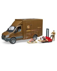 (BRU02538) Bruder, MB Sprinter UPS with driver and accessories