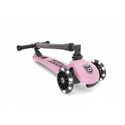 (SR96346) Scoot N Ride, Highwaykick 3 LED - Rose