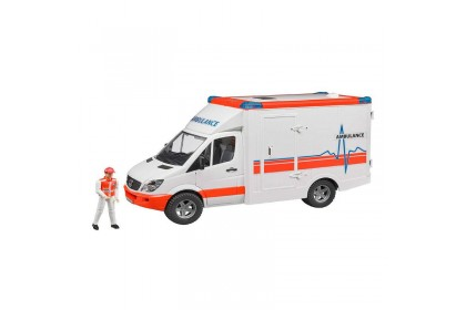 (BRU02536) Bruder, MB Sprinter Ambulance with driver and L+S Module