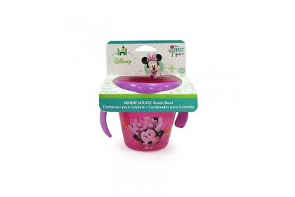 (Y9971) The First Years, Minnie Mouse Spill-Proof Snack Bowl 1pk - Pink