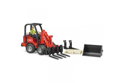 (BRU02191) Bruder,  Schaffer Compact Loader 2034 With Figure And Accessories