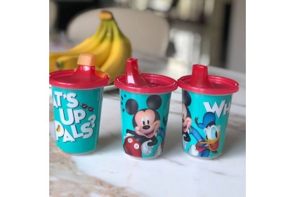 (Y9652-Green) The First Years, Mickey What's Up Pals Take & Toss 10 Oz Sippy Cup 3pk With Travel Cap 296ml