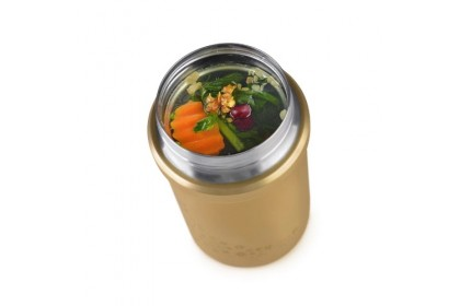 (K3772-08) Relax, 0.72L Stainless Steel Thermal Food Jar - Black