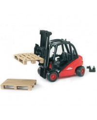 (BRU02511) Bruder, Linde Fork Lift H30D With 2 Pallets