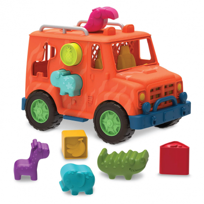 (VE1029Z) Wonder Wheels, Safari Truck Shape Sorter